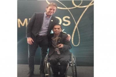 Catarinense é eleito melhor atleta de tênis em cadeira de rodas de 2016
