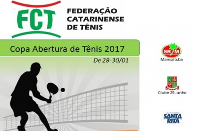 INSCRIÇÕES ENCERRADAS - COPA ABERTURA DE TÊNIS 2017