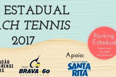 ENCERRADAS AS INSCRIÇÕES II ESTADUAL DE BEACH TENNIS 2017