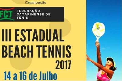 INSCRIÇÕES ENCERRADAS - III ESTADUAL DE BEACH TENNIS 2017