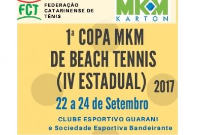 1ª COPA MKM DE BEACH TENNIS (IV ESTADUAL)
