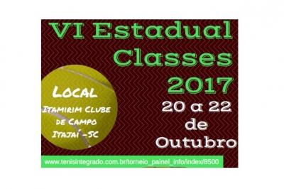 ABERTAS AS INSCRIÇÕES PARA O VI ESTADUAL CLASSES 2017
