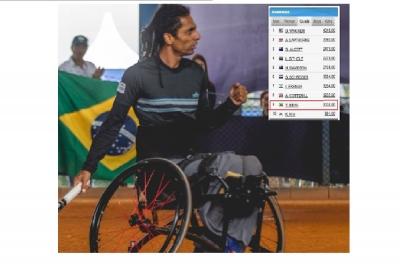 YMANITU SILVA TOP 9 NO RANKING MUNDIAL DO TÊNIS EM CADEIRA DE RODAS