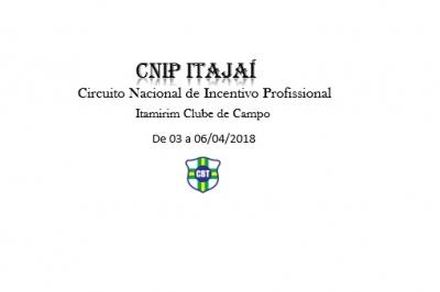 ENCERRAM NESTA 2ª FEIRA AS INSCRIÇÕES PARA O CNIP ITAJAÍ