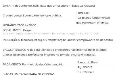 CURSO PARA TÉCNICOS E PROFESSORES COM MÁRCIO CARLSSON