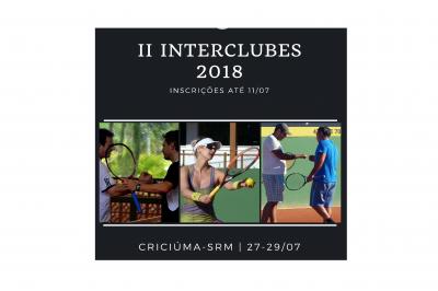 ENCERRA AMANHÃ O PRAZO PARA INSCRIÇÕES NO II INTERCLUBES 2018