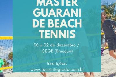 INSCRIÇÕES ABERTAS PARA O MASTER GUARANI DE BEACH TENNIS 2018