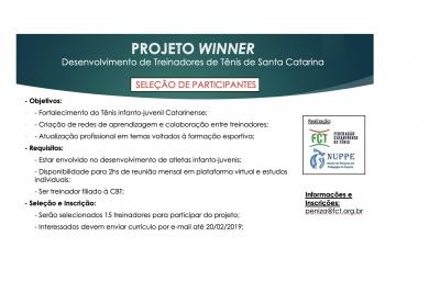 PROJETO WINNER - DESENVOLVIMENTO DE TREINADORES DE TÊNIS EM SC