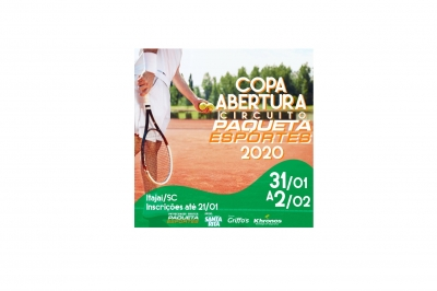 Estão abertas as inscrições para a Copa Abertura Circuito Paquetá Esportes 2020!