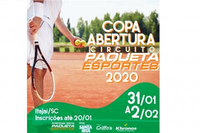 Últimos dias das inscrições para a Copa Abertura Circuito Paquetá Esportes 2020!