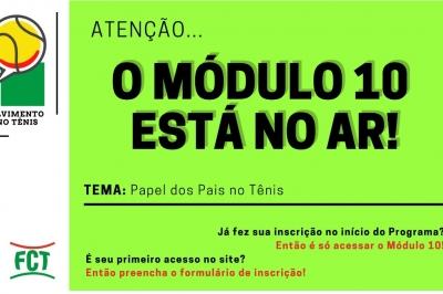 MÓDULO 10 ESTÁ NO AR