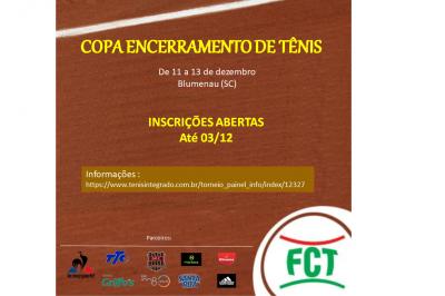 Inscrições abertas para a COPA ENCERRAMENTO 2020 e COPA TÊNIS PRÓ PORTOFINO MULTI FAMILY OFFICE - R$ 40 MIL