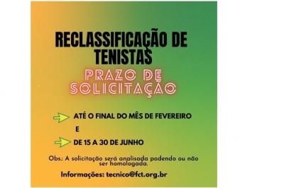 RECLASSIFICAÇÃO DE TENISTAS