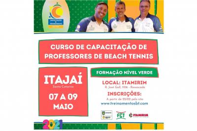 CURSO DE CAPACITAÇÃO DE PROFESSORES DE BEACH TENNIS
