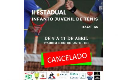 TORNEIO CANCELADO - II ESTADUAL INFANTO JUVENIL DE TÊNIS 2021 (2ª ETAPA)