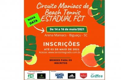 NOVA DATA – CIRCUITO MANIACS DE BEACH TENNIS – ESTADUAL FCT 2021
