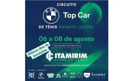 ÚLTIMOS DIAS DE INSCRIÇÕES– CIRCUITO BMW TOP CAR DE TÊNIS INFANTO JUVENIL (4ª ETAPA FCT)