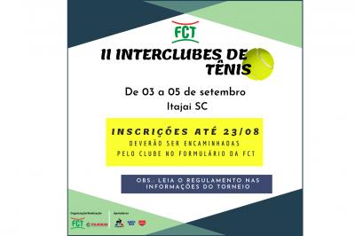 INSCRIÇÕES ABERTAS – II INTERCLUBES 2021