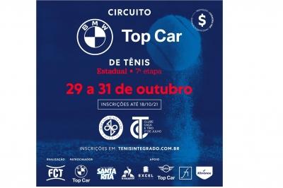 INSCRIÇÕES ABERTAS – CIRCUITO BMW TOP CAR DE TÊNIS (7º ESTADUAL FCT)