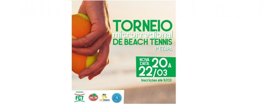 MICRORREGIONAL DE BEACH TENNIS TEM UMA NOVA DATA!