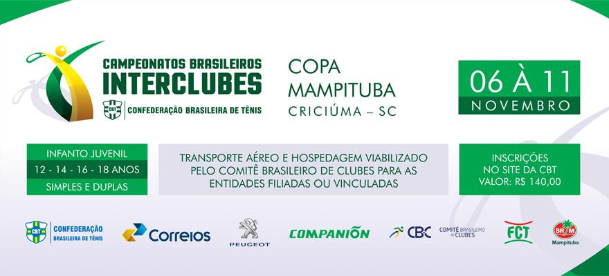 INSCRIÇÕES DO CAMPEONATO BRASILEIRO INTERCLUBES DE CRICIÚMA ENCERRAM NESTA TERÇA-FEIRA