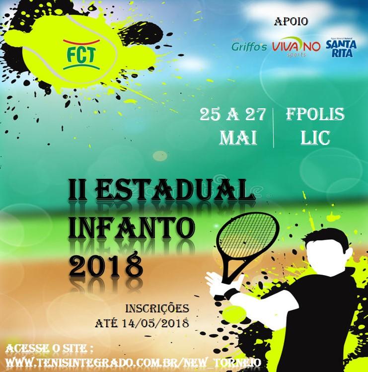 II ESTADUAL INFANTO: INSCRIÇÕES TERMINAM NA PRÓXIMA SEGUNDA-FEIRA (14/05/2018)