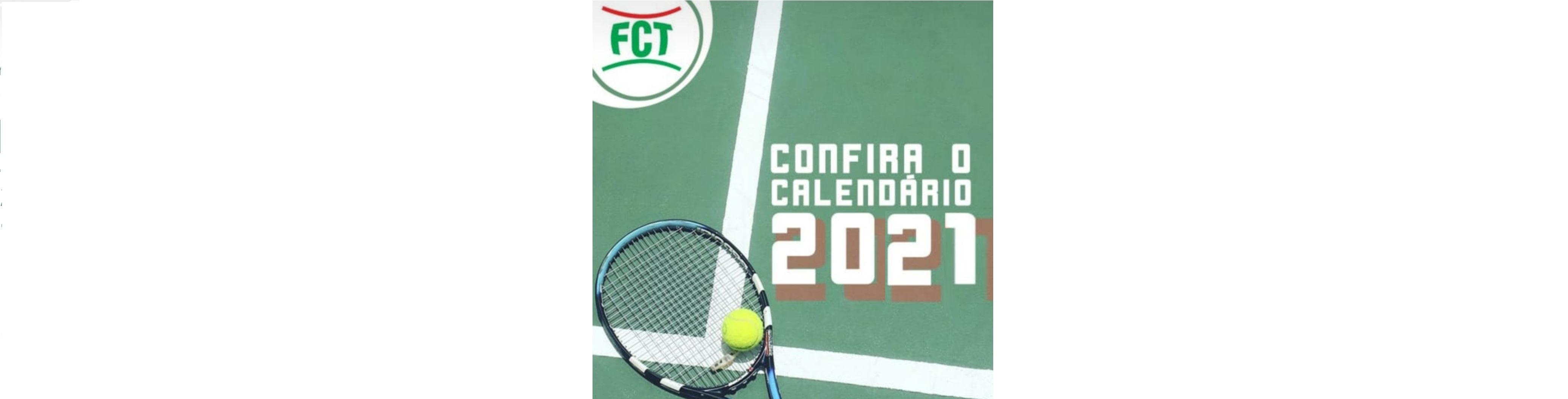 CALENDÁRIO ESPORTIVO FCT 2021 - TÊNIS E BEACH TENNIS