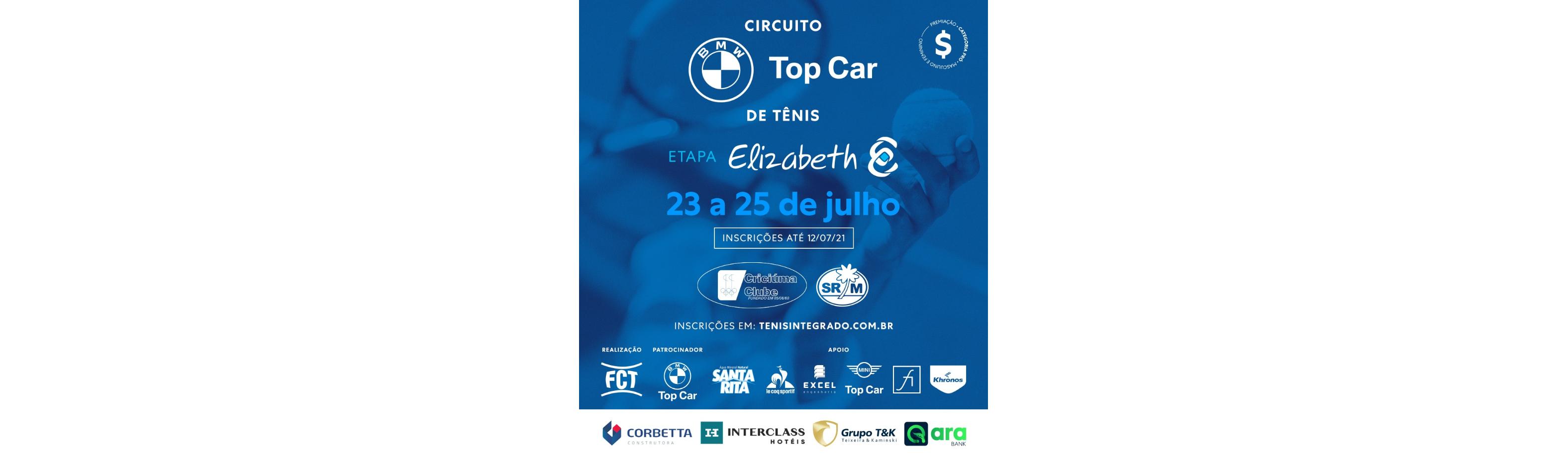 INSCRIÇÕES ESTÃO ABERTAS – CIRCUITO BMW TOP CAR DE TÊNIS (4º ESTADUAL FCT)