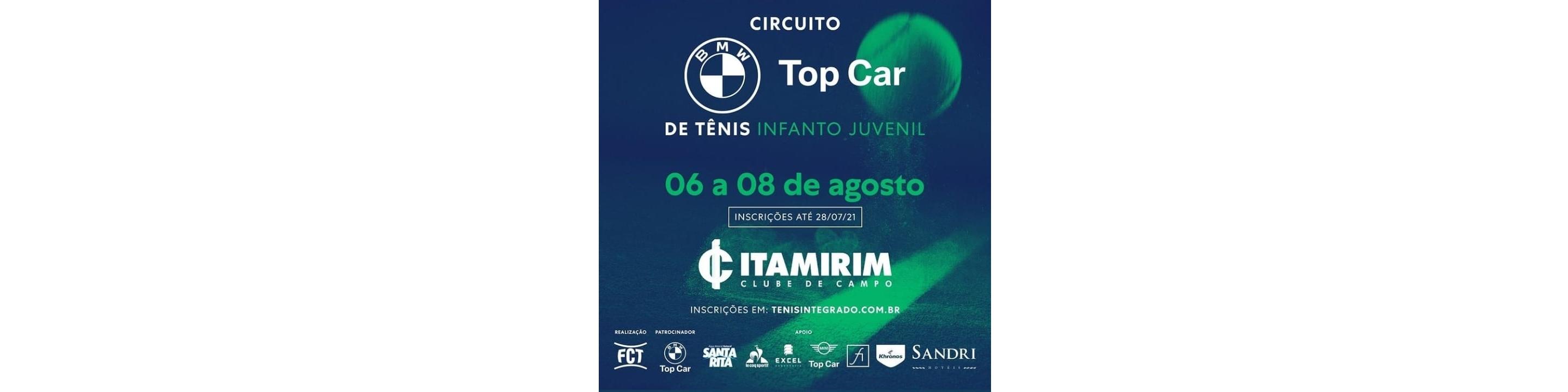 INSCRIÇÕES ABERTAS – CIRCUITO BMW TOP CAR DE TÊNIS INFANTO JUVENIL (4ª ETAPA FCT)
